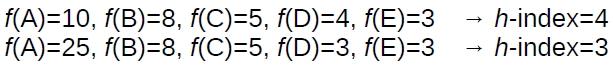 مثالهایی از روش محاسبه H-Index