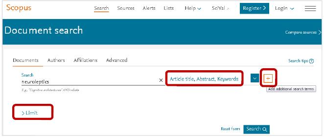 برای جستوجو در اسکوپوس میتوان از نام مقاله، نام نویسنده و یا نام سازمان مد نظر استفاده کرد.