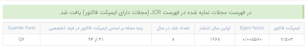 در صورتی که مجلهای توسط JCR نمایه شده باشد، به معنی isi بودن آن است.